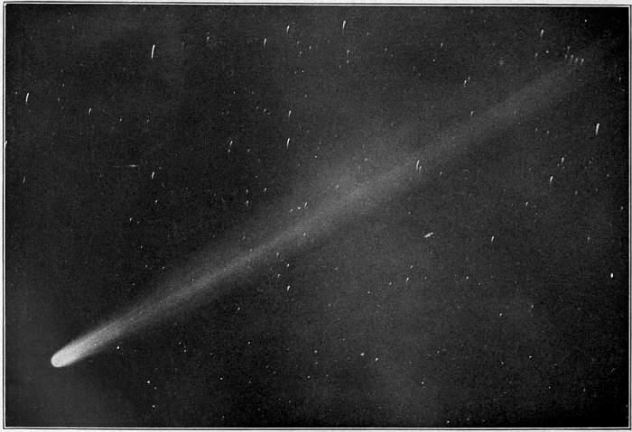 Halleyova kometa při svém slavném návratu roku 1910, nikoli tedy 466 před n. l. Kredit: Wikimedia Commons.