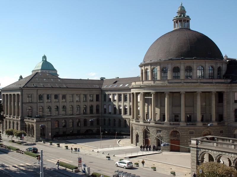 Monumentální budovy ETH Zürich. Kredit: ETH Zürich.