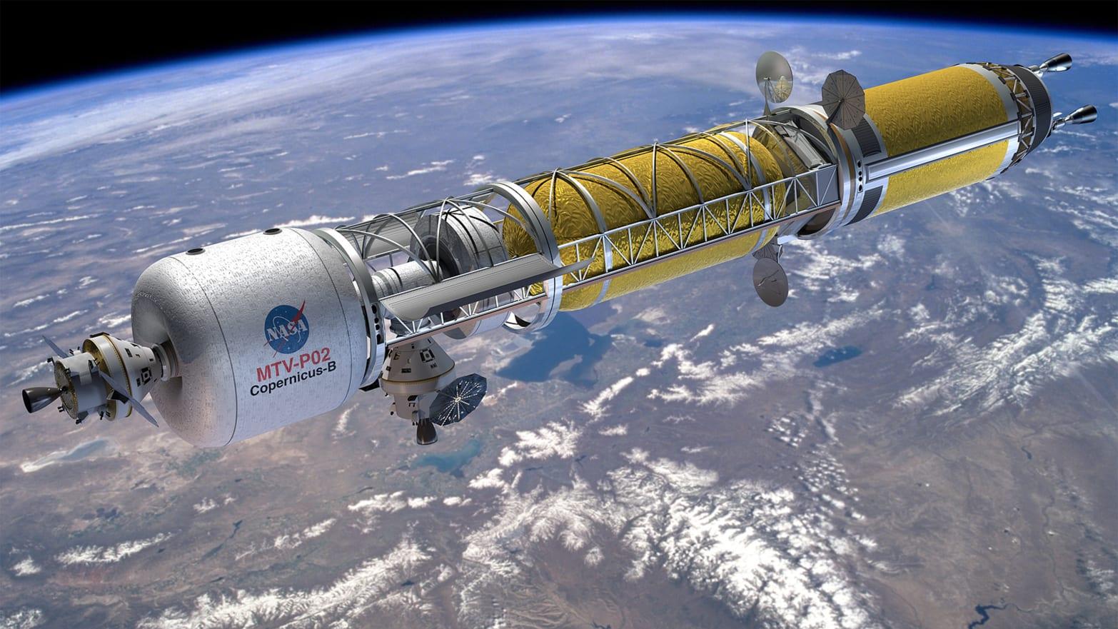 Kosmická loď pro cesty kMěsíci. Kredit: NASA.