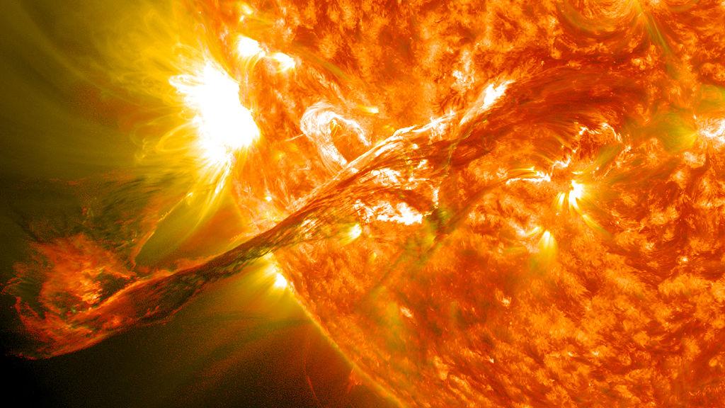Erupce na Slunci 31. srpna 2012. Kredit: NASA Goddard Space Flight Center.