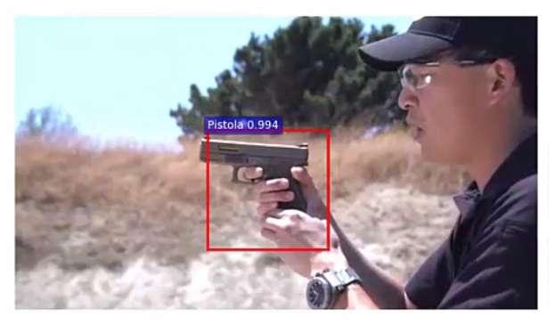 Stačí aby se na mžik v záběru ocitla zbraň...  (Kredit: University of Granada)