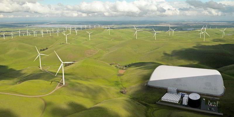 Síťová baterie soxidem uhličitým. Kredit: Energy Dome.