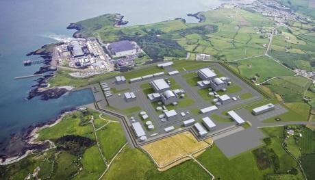 Vzhled staré a nové elektrárny Wylfa a Wylfa Newydd (zdroj Horizon).