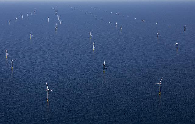 Mořská větrná farma Dan Tysk (zdroj Vattenfall, foto Paul Langrock).