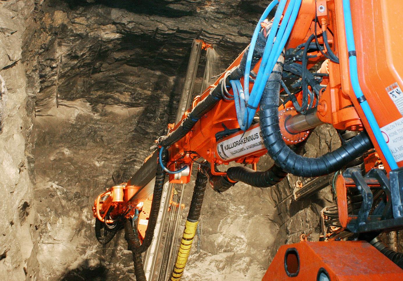 Práce na konečném úložišti vyhořelého jaderného paliva Onkalo ve Finsku (zdroj Onkalo).
