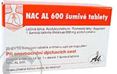 NAC AL 600 ŠUMIVÉ TABLETY na Lekarna.cz seženete za 159Kč  a ušetříte 11 % (19 Kč)