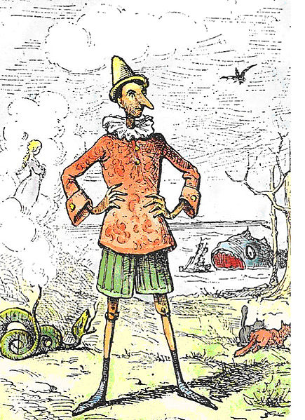Tradičně nedůvěryhodný Pinocchio. Kredit: Public Domain / Wikipemedia Commons.