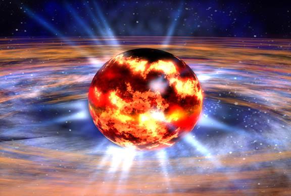 Skrývá se temná hmota uvnitř neutronových hvězd? Kredit: NASA.