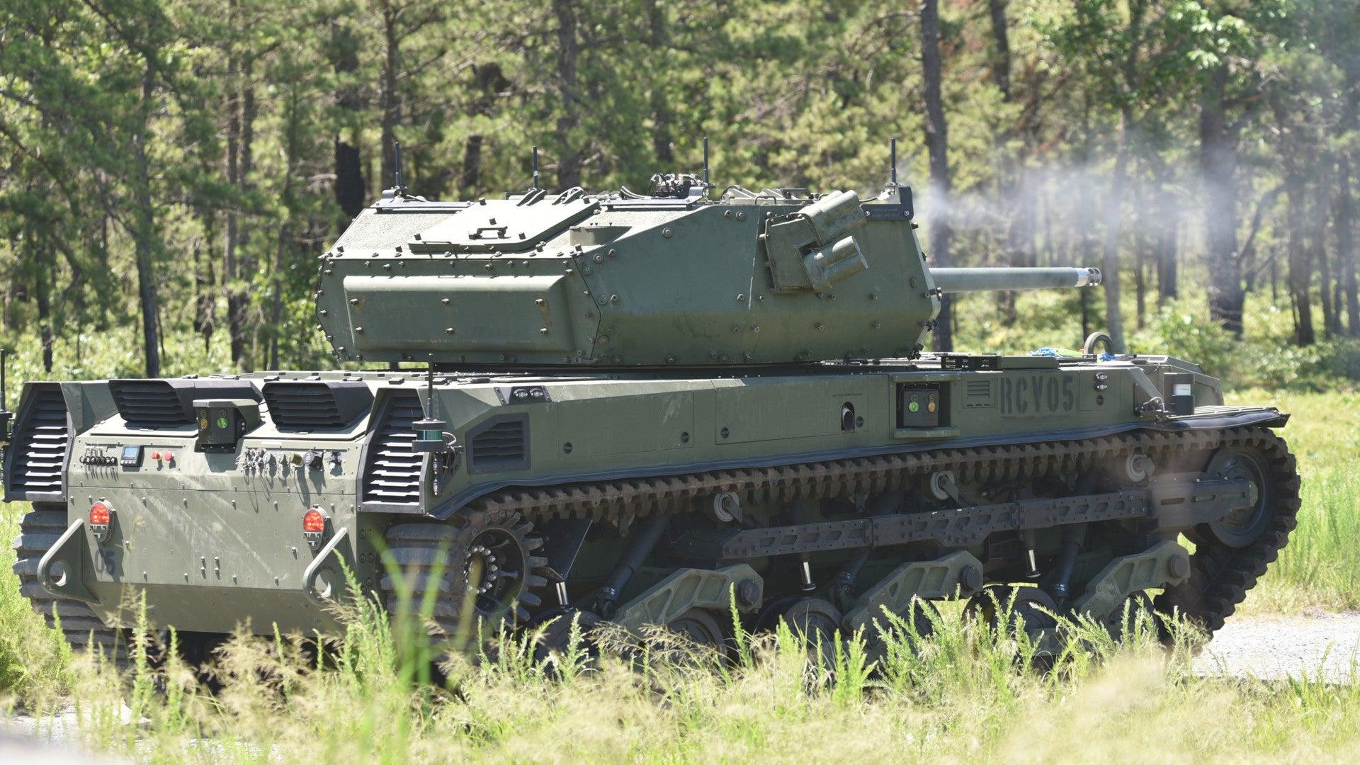 Ripsaw M5 na ostrých střelbách. Kredit: US Army.