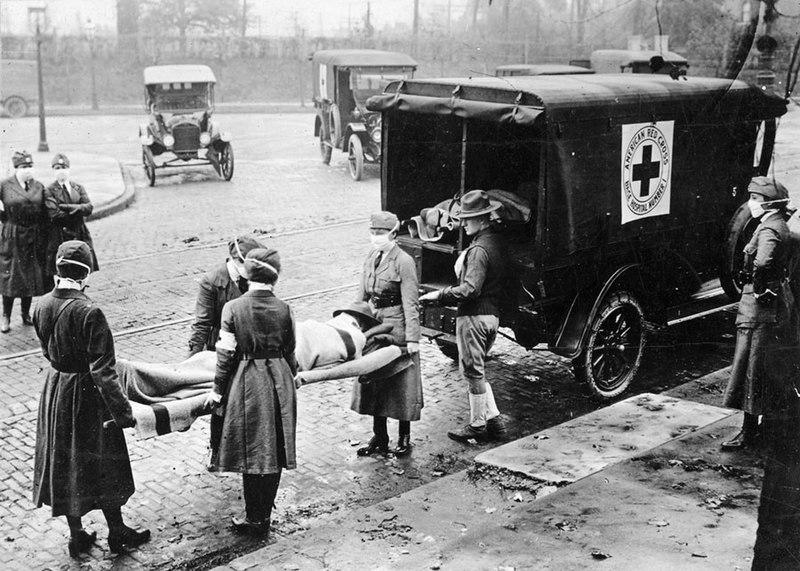 Španělská chřipka ve St. Louis, stát Missori (1918). Kredit: St. Louis Post Dispatch/Wikimedia Commons.