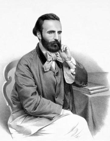 Angelo Mariani (1821-1873), francouzský lékárník svým medicinálním vínem nadchnul i církevní hodnostáře.  Litografie: Augusto Bedetti.  (Kredit: Wikipedia, volné dílo)