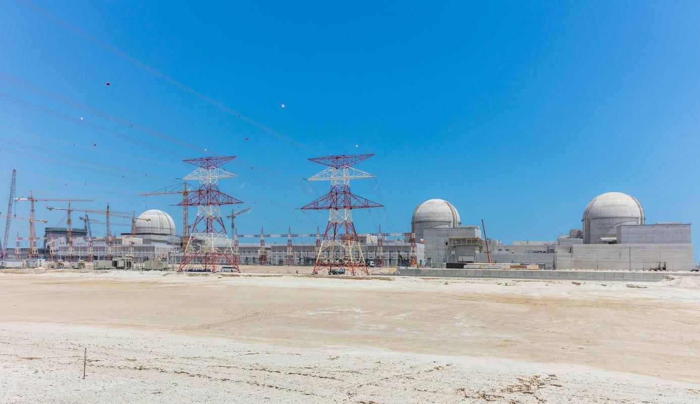 Bloky APR1400 se dokončují i ve Spojených arabských emirátech (zdroj enec.gov.ae).