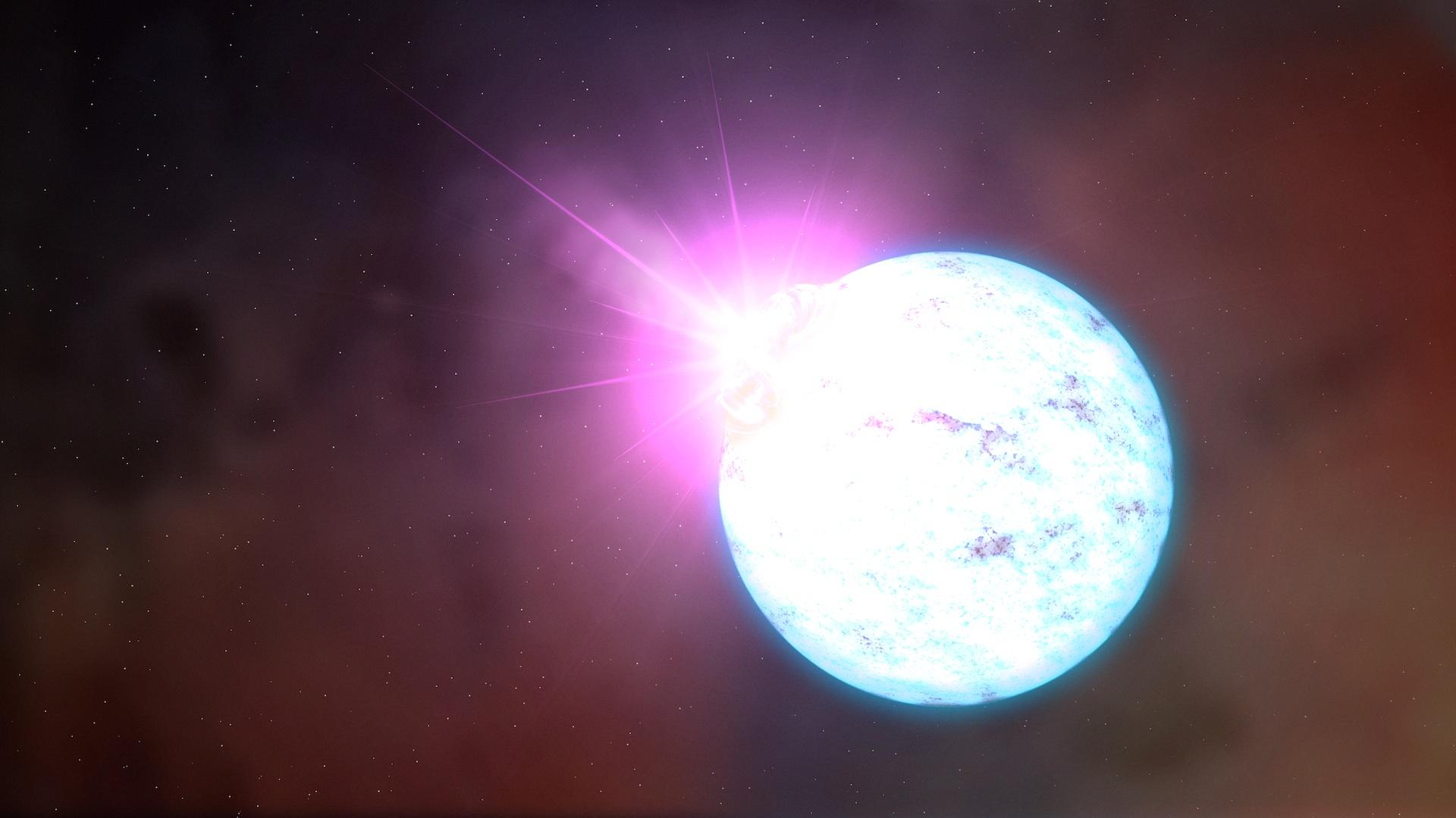 Neutronová hvězda. Kredit: NASA's Goddard Space Flight Center.