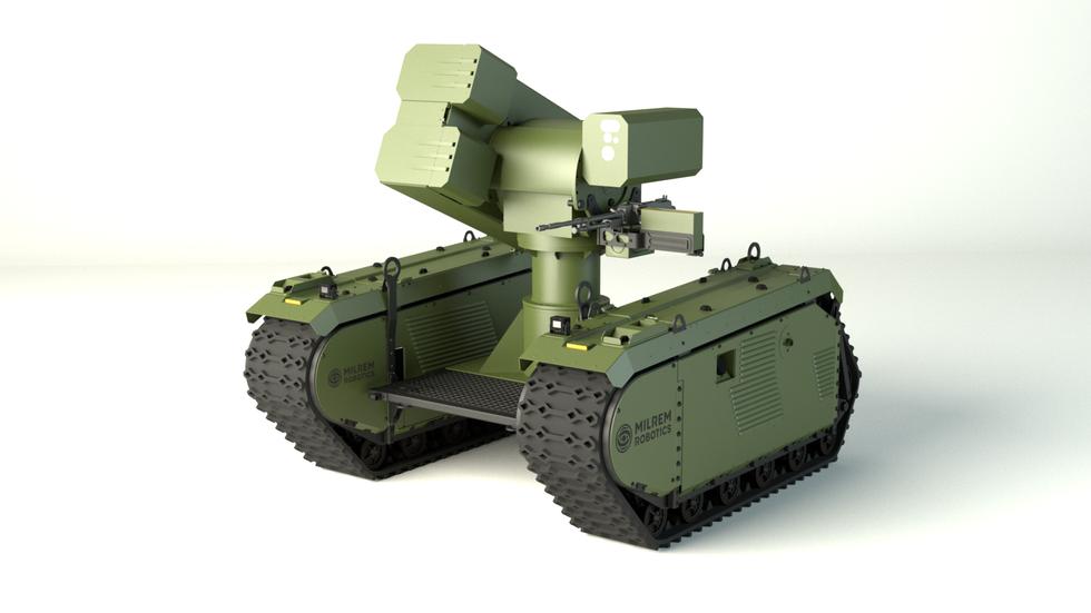 Vizualizace robotického tankobijce. Kredit: Milrem Robotics.