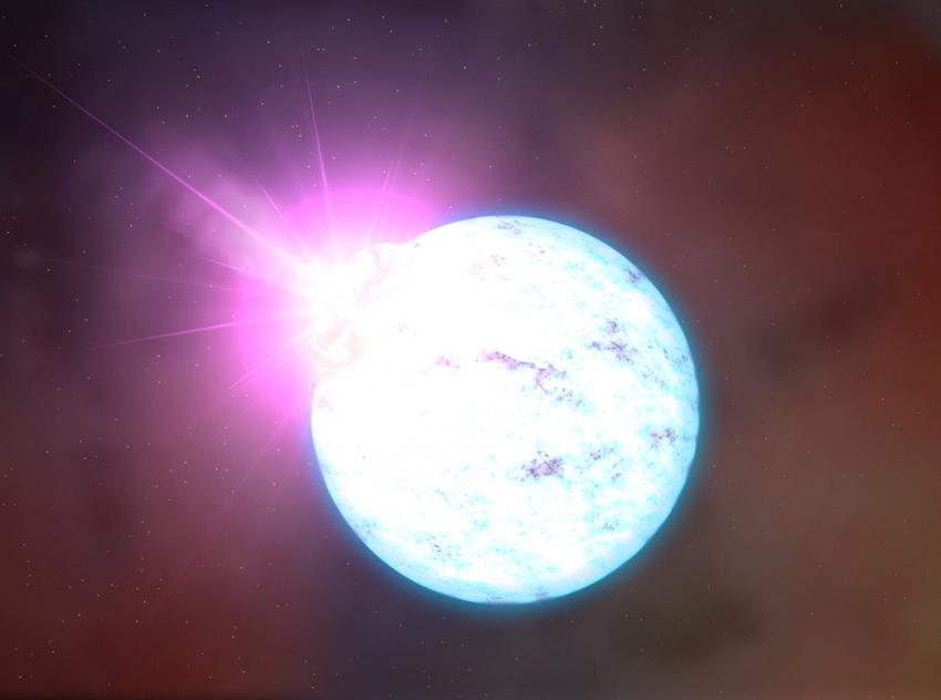 Neutronová hvězda nebo klubko těstovin? Kredit: NASA.