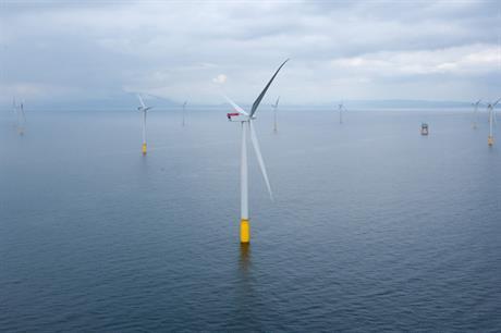 Největší současný mořský větrný park Walney Extension (zdroj Dong Energy).