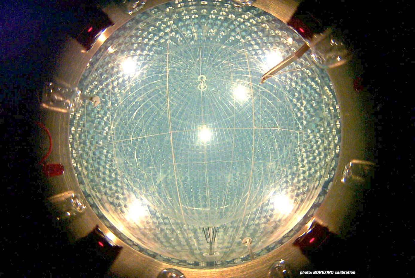 Neutrinový detektor Borexino (zdroj Borexino).