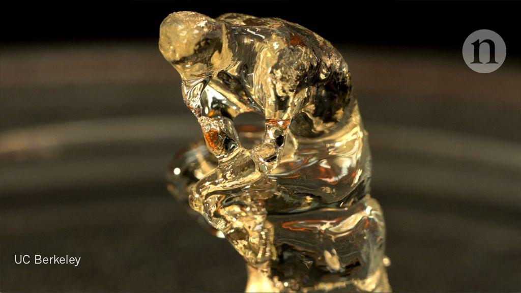 3D tištěná verze Myslitele od francouzského sochaře Augusta Rodina. Kredit: University of California, Berkeley.