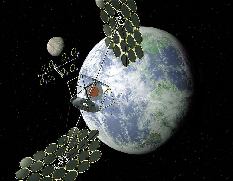 Se solární energií zvesmíru počítají i vNASA. Kredit: NASA.