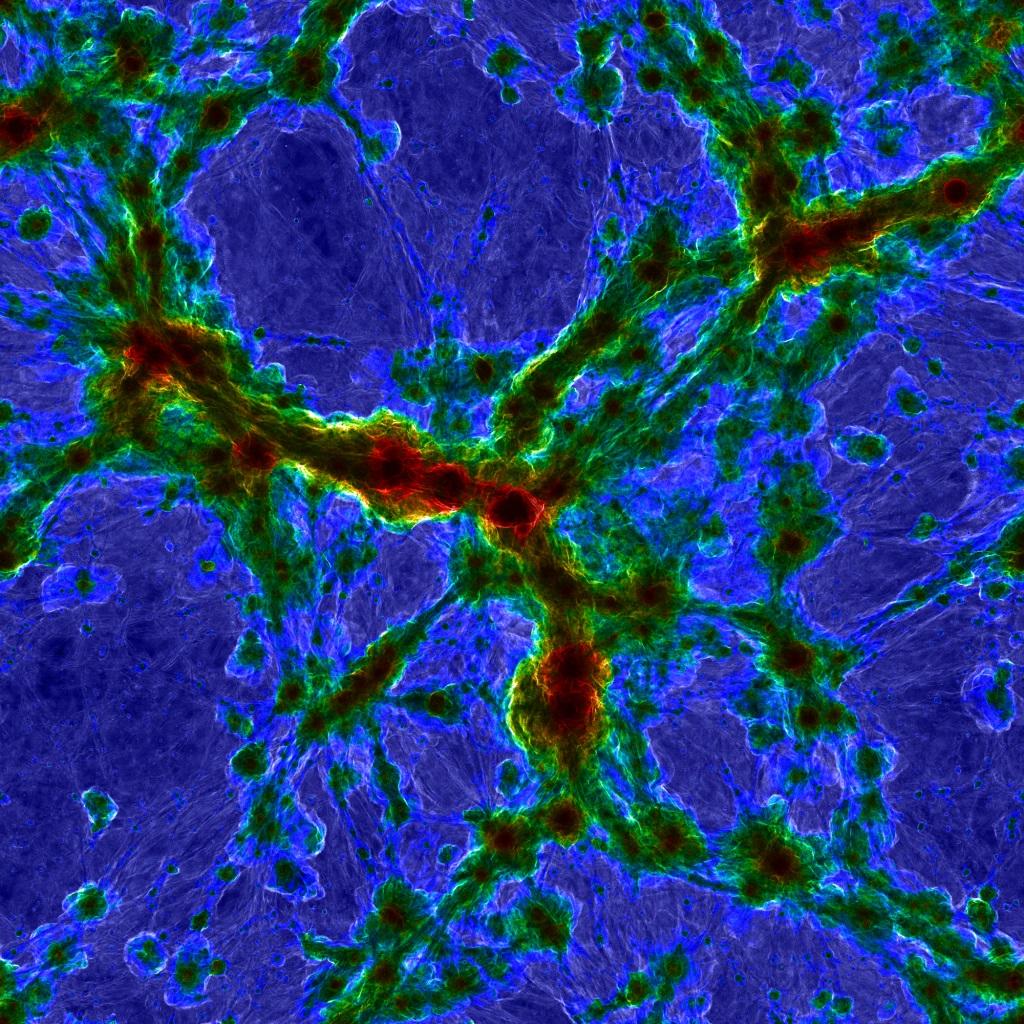 Úžasný vesmír simulace TNG50. Kredit: TNG Collaboration.