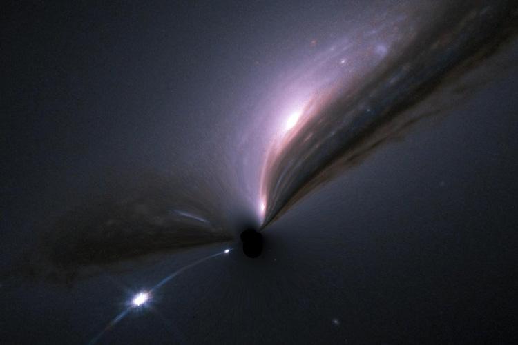 Jak by vypadala supernova sgravitační čočkou? Kredit: M. Zumalacárregui.