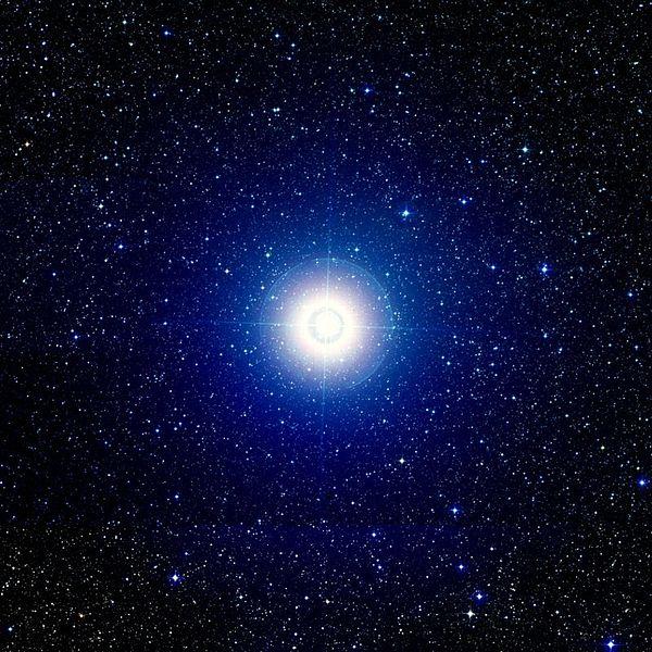 Gamma Velorum. Kredit: Palomar Observatory / STScI / WikiSky.