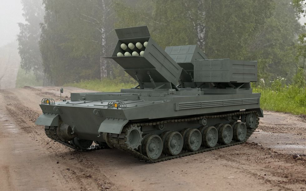 Stíhač tanků s24 raketami Brimstone. Kredit: MBDA.