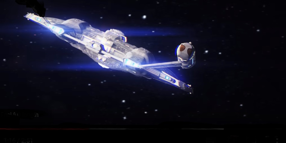 Pokud se nám nepodaří získat supertěžké prvky v laboratoři, budeme si muset pro ně zaletět k nejbližší supernově. (Kredit: Star Trek – Horizon - Trailer)