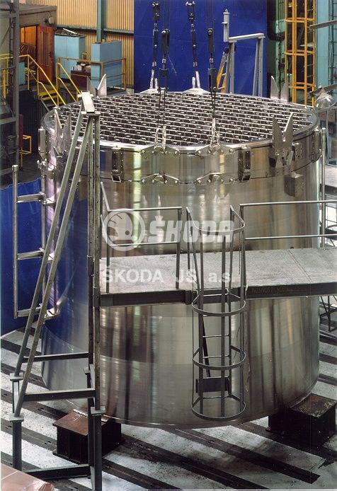 Pro jadernou elektrárnu Forsmark dodala Škoda JS mříž a plášť aktivní zóny varného reaktoru (zdroj Škoda JS).