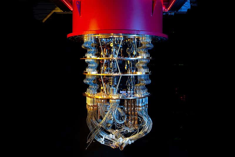 Kvantový počítač vlaboratořích Google. Kredit: Google AI Quantum / James Crawford.