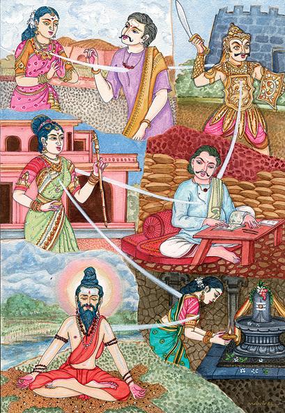 Budhismus a Hinduismus spředstavou definitivního konce existence bojuje reinkarnací. (Kredit: Himalayan Academy Publications, Kapaa, Kauai, Hawaii)