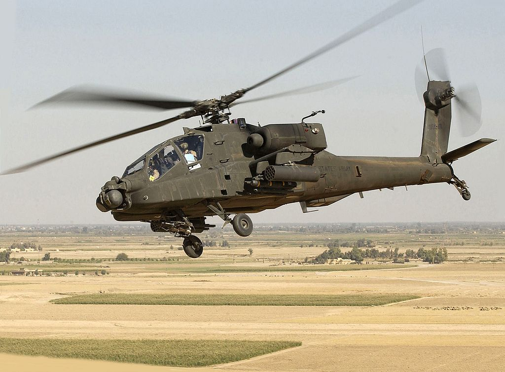 Hughes AH-64 Apache. Kredit: U. S. Army.