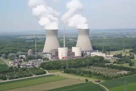 Elektráren Gundremmingen, jejíž reaktor B byl nyní odstaven (zdroj RWE).