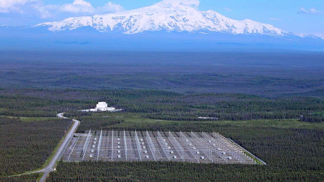 HAARP v severské divočině. Kredit: US Air Force
