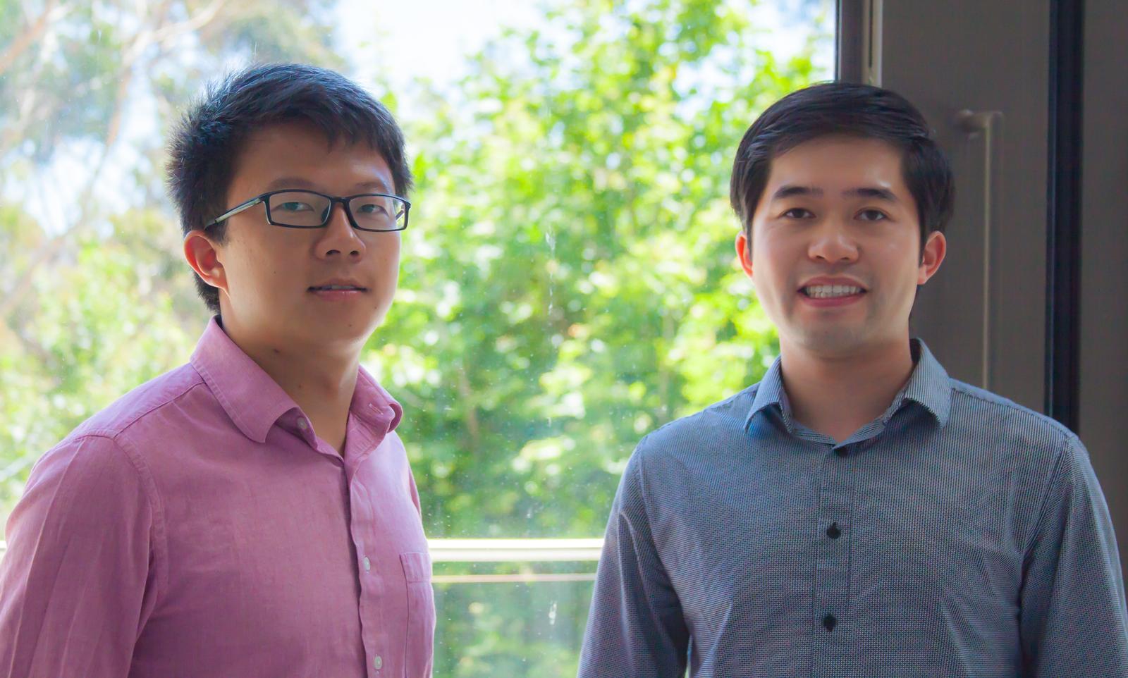 Jinxing Li (vlevo) a Wei Zhu. Kredit: UC San Diego