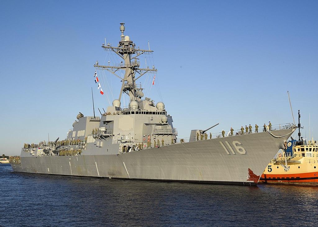 USS Thomas Hudner (DDG-116), nejnovější raketový torpédoborec třídy Arleigh Burke. Kredit: US Navy.