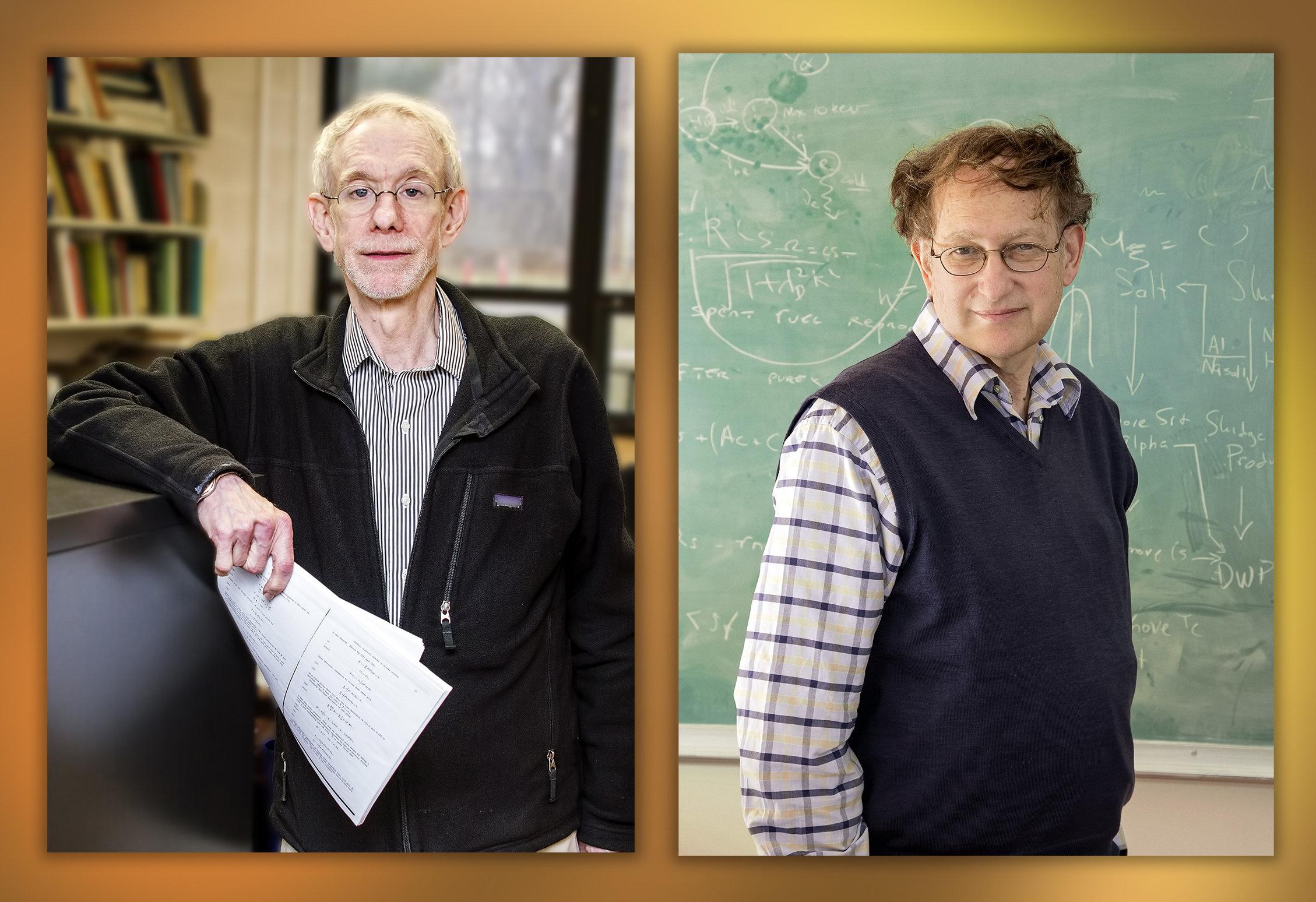 Vlevo Allan Reiman, vpravo jeho kolega Nat Fisch. Kredit: Elle Starkman/PPPL Office of Communications.