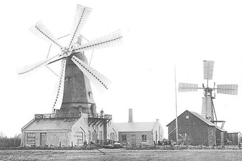 Turbíny v dánském městečku Askov, které vybudoval Poul la Cour (zdroj stránky muzea Poula la Coura).