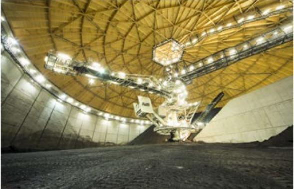 Zásobníky uhlí (zdroj Vattenfall).