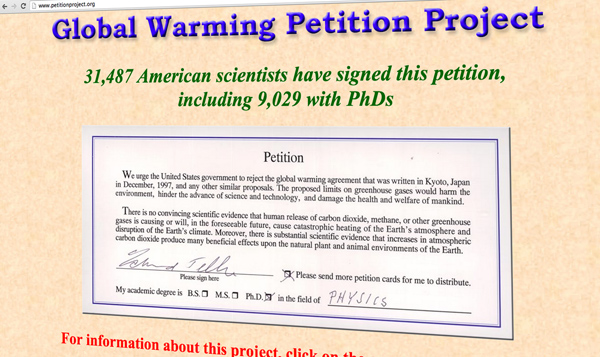 Oregon Global Warming Petition Project