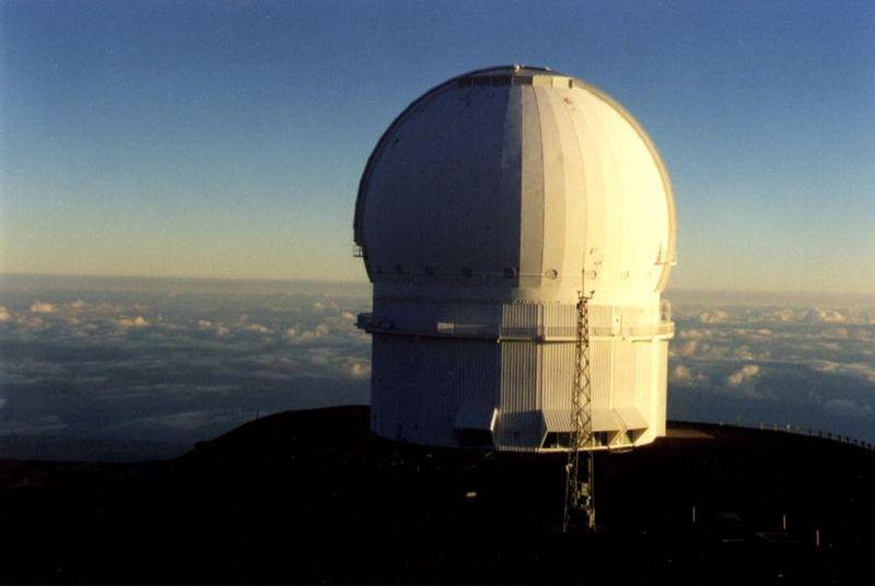 Canada–France–Hawaii Telescope. Kredit: Marcel VanDalfsen / Wikimedia Commons.