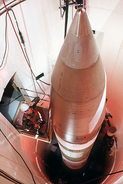 Minuteman III vraketovém silu. Kredit: U. S. Government.