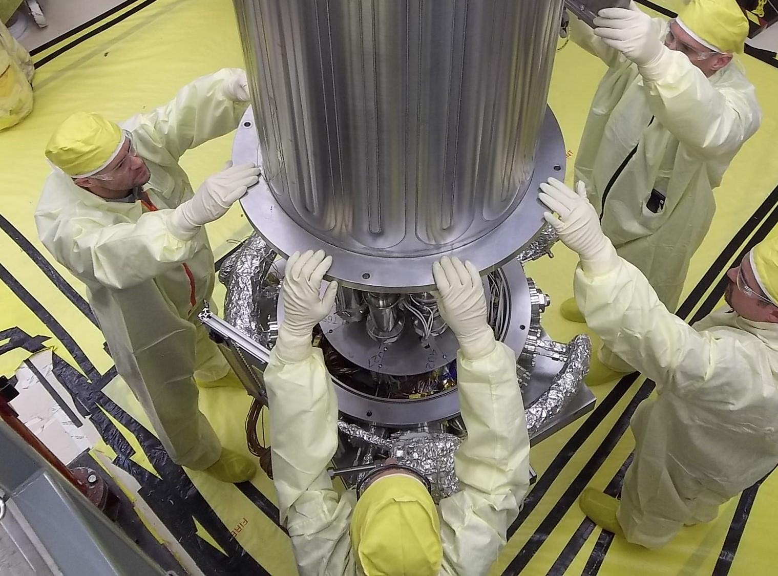 Experiment KRUSTY. Kredit: Los Alamos National Laboratory.