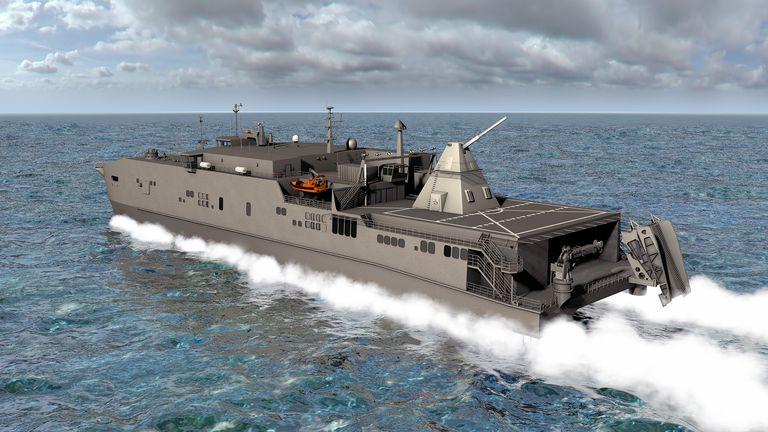 Ze záměru instalovat prototyp railgunu na rychlou transportní loď USNS Millinocket nakonec sešlo. Kredit: US Navy.