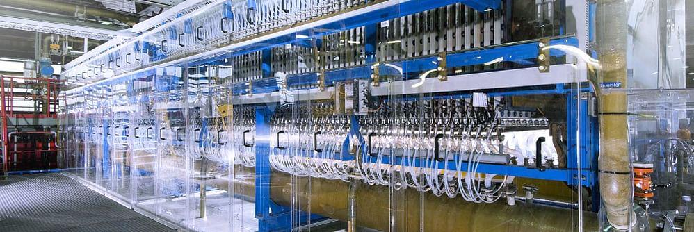 Zařízení pro elektrolýzu vody. Kredit: ThyssenKrupp.