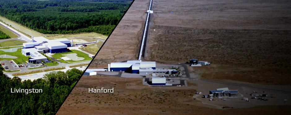 Dvojice detektorĹŻ projektu LIGO. Kredit: LIGO Caltech.
