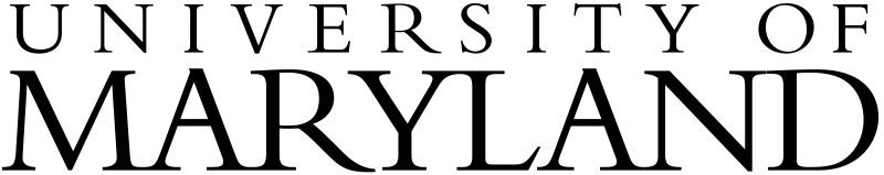 University of Maryland, logo.