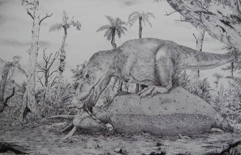 Tyranosauři byli nepochybně aktivními predátory, schopnými ulovit například i velké rohaté dinosaury rodu Triceratops a Torosaurus. Rozhodně k tomu ale nepoužívali jed. Jejich nejúčinnější zbraní byly extrémně silné zubaté čelisti a možná i mohutné a