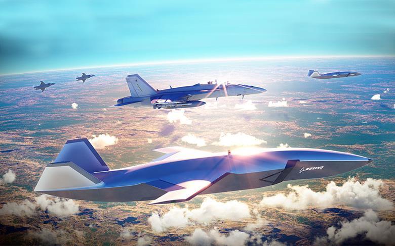 Budoucí letectvo? Growler sdrony systému Boeing Airpower Teaming System. Kredit: Boeing.