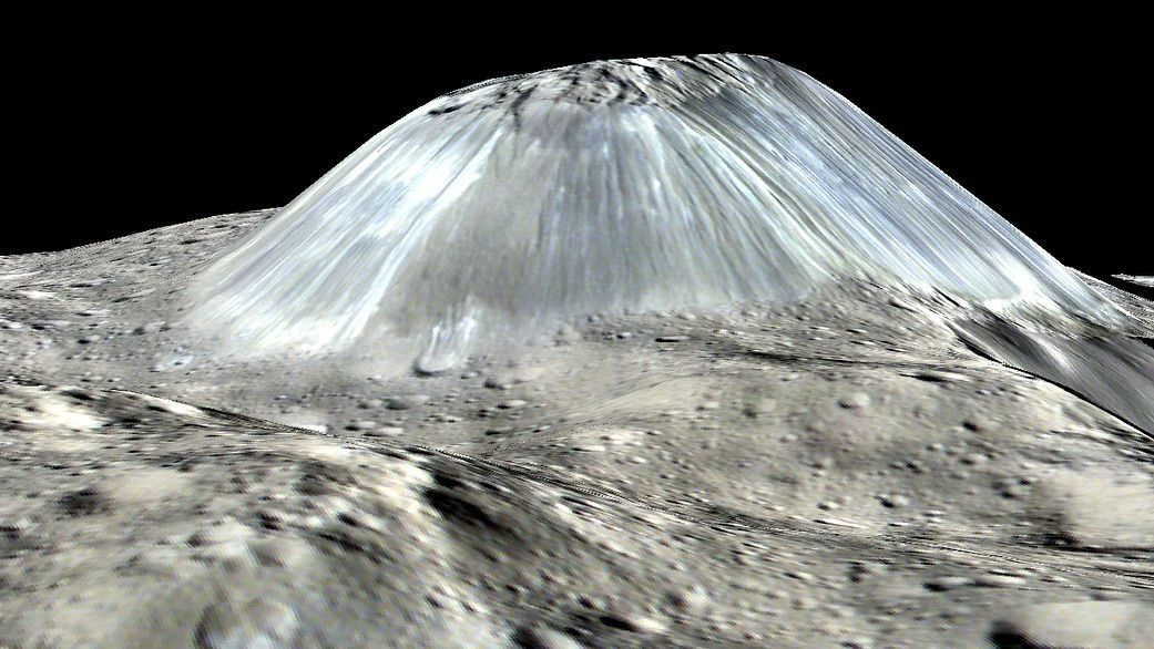 Ahuna Mons na Ceres. Zdroj: http://www.space.com/